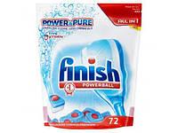 Finish all in 1 power & pure powerball таблетки для посудомоечной машины 72 шт.
