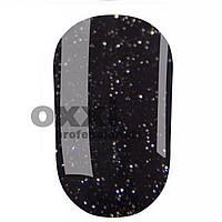 Гель лак Oxxi № 205 (черный с серебристыми блестками)