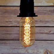 """Ретро лампа Эдисона """"бочонок"""", 60Вт, T45-S"""