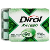 Dirol Х-Fresh Жевательная резинка мятная свежесть 18г 12шт