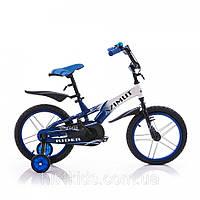 Двухколесный велосипед Azimut Rider '18 синий/белый