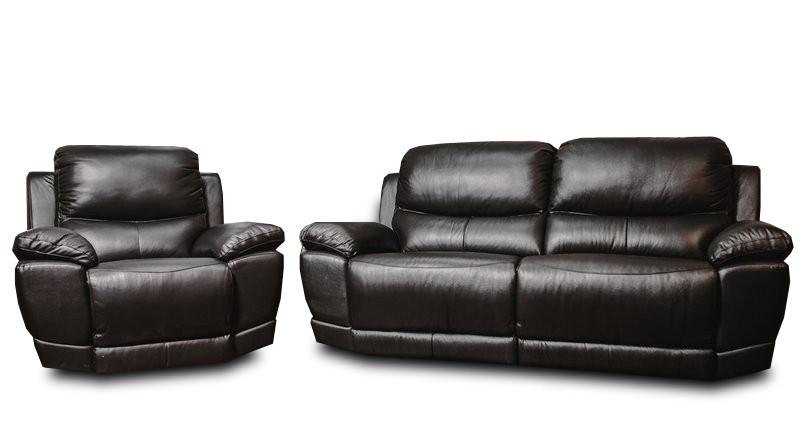 М'який диван-реклайнер в комплекті з кріслом-реклайнером MONTANA (3+1)