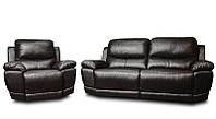 Мягкий диван-реклайнер в комплекте с креслом-реклайнером MONTANA (3+1)