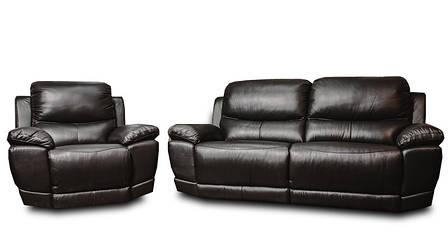 Мягкий диван-реклайнер в комплекте с креслом-реклайнером MONTANA (3+1), фото 2