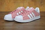 Кроссовки Adidas Superstar 1 Pink White Snake. Живое фото. Топ качество! (Реплика ААА+), фото 2
