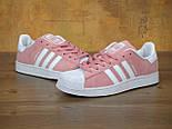 Кроссовки Adidas Superstar 1 Pink White Snake. Живое фото. Топ качество! (Реплика ААА+), фото 6
