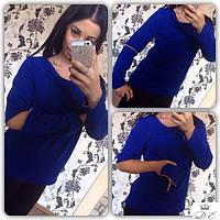 Женский ангоровый свитер с рукавами-трансформерами (2 цвета)
