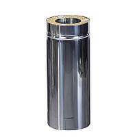 Труба из нержавеющей стали диаметром 120/180мм в нержавеющем кожухе