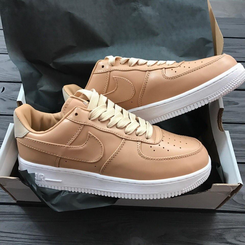 Кроссовки женские низкие кожаные Nike lab Air Force 1 Low Vachetta Tan