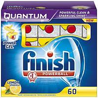 "Средство для посудомоечных машин Finish Quantum PowerBall ""Лимон"" 60 таблеток"