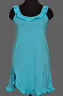 Ночная сорочка без рукава женская короткая (ночнушка) трикотажная хлопковая Украина