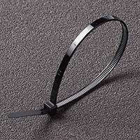 Хомут пластиковый 3,6*300 черный Apro  (пачка - 100шт)