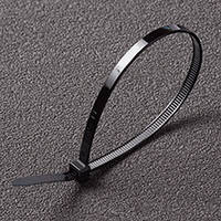 Хомут пластиковый 4,6*300 черный Apro  (пачка - 100шт)