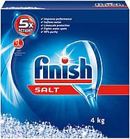 Finish соль для посудомоечных машин 4 кг. Средство для мытья посуды.
