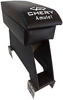 Подлокотник Chery Amulet (Чери Амулет) черный с вышивкой, фото 1