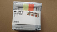 IKEA Box SLAKTING, серый, оранжевый (403.279.73)