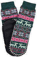Носки тапочки женские LOOKeN Олень Зеленый