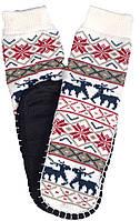 Носки тапочки женские LOOKeN Олень Белый