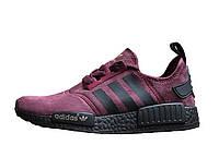 Женские кроссовки  Adidas NMD Runner Suede Dark Red, фото 1