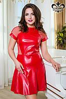 Женское красное платье Отто Luzana 44-50 размеры