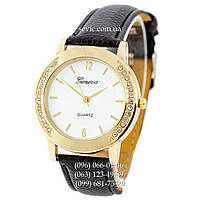 Женские наручные часы Geneva Women Classic Black-Gold-White