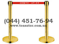 Мобильная стойка с вытяжной лентой 2,0 м. Тенсатор ЛТ-04 Gold (золото).