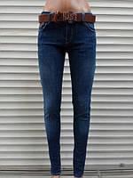 Стильные молодежные турецкие женские джинсы зауженные с поясом. р-ры 31.