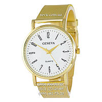 Женские наручные часы Geneva Quartz 108 Gold-White