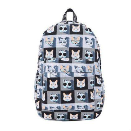 Молодежный рюкзак Стильные котики