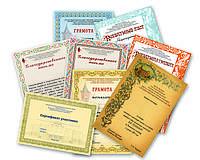 Грамоты, сертификаты на заказ, изготовление грамот и сертификатов