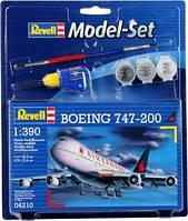 Model Set Самолет Boeing 747-200; 1:390, Revell