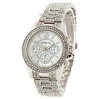 Женские наручные часы Geneva Kors Edition Full Pave Silver-White