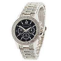 Женские наручные часы Geneva Kors Edition Full Pave Silver-Black