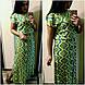 Женское летнее платье в пол №26-с448/1 БАТАЛ, фото 2