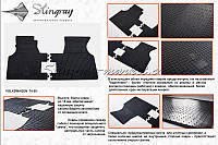Комплект резиновых ковриков Stingray для автомобиля  Volkswagen T4 1990-    2шт.