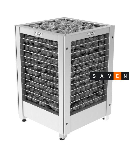 Электрическая печь (каменка)  Harvia Modulo MDS135GL steel для сауны и бани