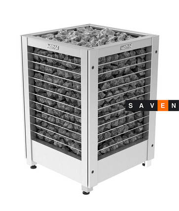 Электрическая печь (каменка)  Harvia Modulo MDS135GL steel для сауны и бани, фото 2