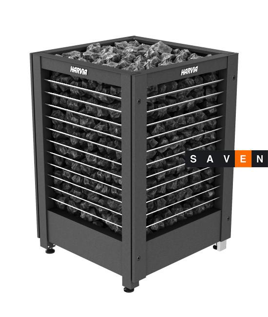 Электрическая печь (каменка)  Harvia Modulo MD135GL черная для сауны и бани