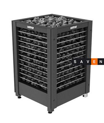 Электрическая печь (каменка)  Harvia Modulo MD135GL черная для сауны и бани, фото 2
