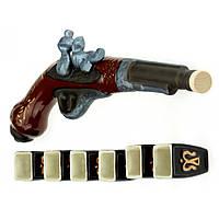 Коньячный набор Пистоль  мушкет  7 предметов