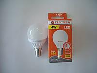 LED лампа ELECTRUM LED D45 4W E14 2700K (40Вт) теплый (A-LB-0532)