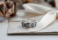 Кольцо с Гербом Украины серебряное 925 пробы, фото 1