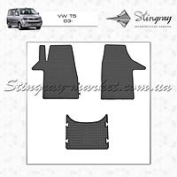 Комплект резиновых ковриков Stingray для автомобиля  Volkswagen T5 2003-     3шт.