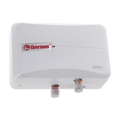 Проточный водонагреватель 6 кВт THERMEX System 600 White (белый автомат, 220В, 6kW)