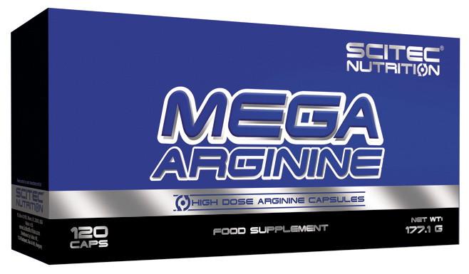 Аргинин в капсулах Scitec MEGA ARGININE 120 капсул