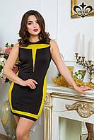 Трикотажное женское платье Паулина Luzana 42-50 размеры