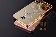 Металлический зеркальный чехол бампер для OnePlus 3 / 3T (4 цвета в наличии)