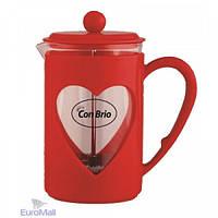 Заварочный чайник с пресс-фильтром 600мл  Con Brio СВ-5660