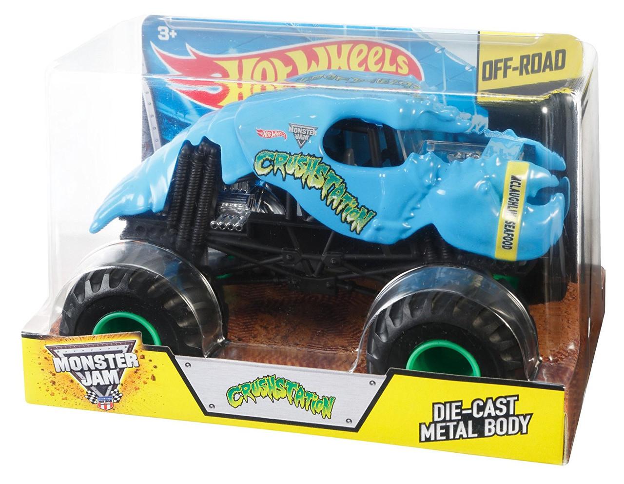 Машинка Хот Вилз Монстр джем внедорожник масштаб 1:24 / Hot Wheels Monster Jam Crushstation
