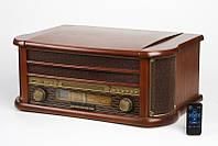 Деревянный Грамофон Проигрыватель CAMRY CR 1111 Радио CD USB Mp3  + Пульт